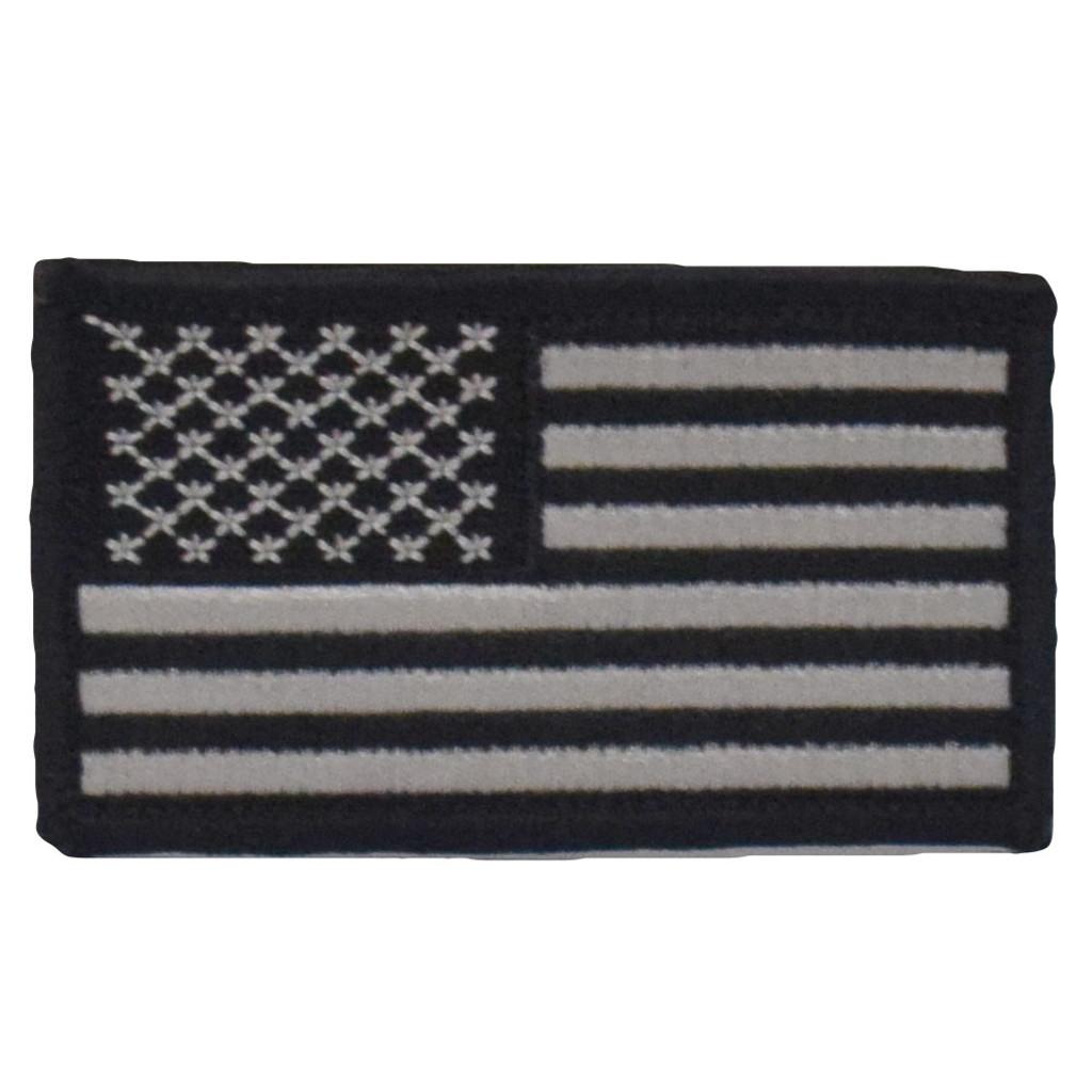 American Flag Patch - Black & Grey