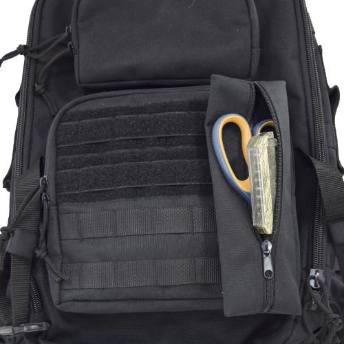 MOLLE on front for clip on items and pouches