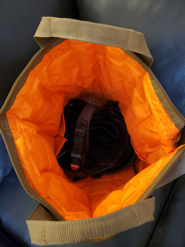 Safety orange interior lining makes it easy to see items inside + 2 interior pockets