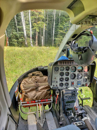 Perfect fit inside helicopter