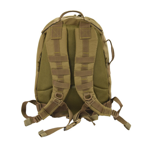 Padded back and backpack straps with mesh lining for comfort