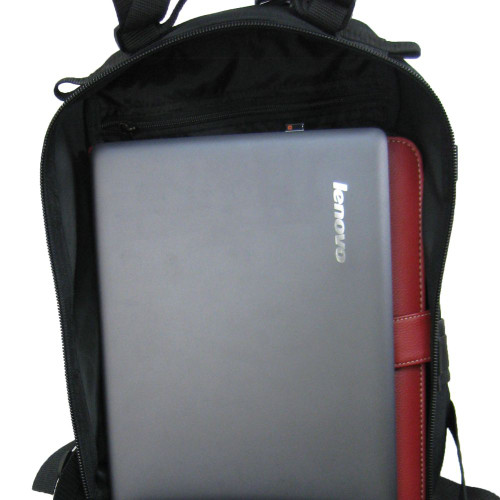 Large back pocket with plenty of room for a tablet, laptop, folders, etc.