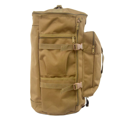 Side zippered pocket & pocket with Velcro closure to secure items