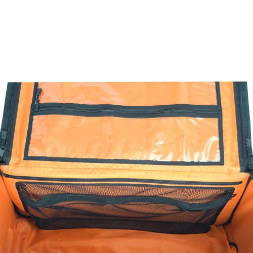 Three large interior pockets - 2 clear vinyl pockets & 1 mesh pocket