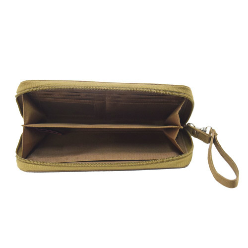 Plenty of room to use as a large wristlet purse to carry essentials like mobile phone, cards, cash, and keys
