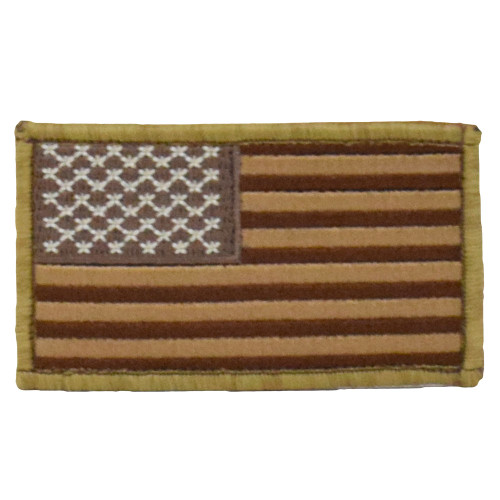 American Flag Patch - Coyote & Tan