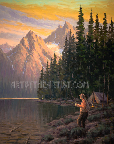 Fred Choate 'Backcountry Blend' Giclee on Canvas
