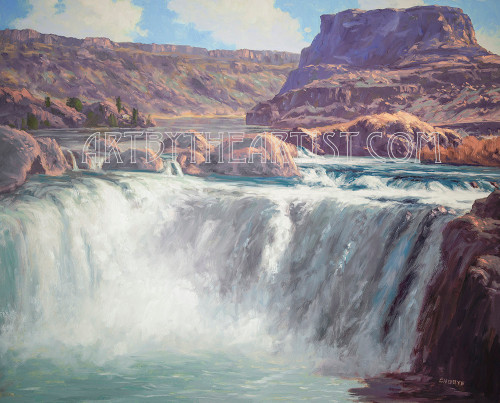Fred Choate 'Shoshone Falls' Giclee on Canvas