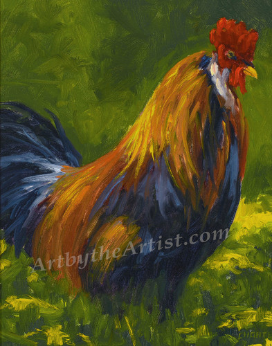 """Fred Choate """"Rooster"""" Giclee on Canvas"""