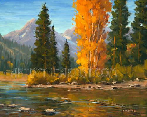 Fred Choate 'Heart of Idaho' Giclee on Canvas