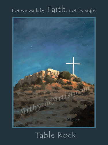 """Fred Choate 12""""x16"""" 'Table Rock' Canvas Gicleé Signed & Numbered"""