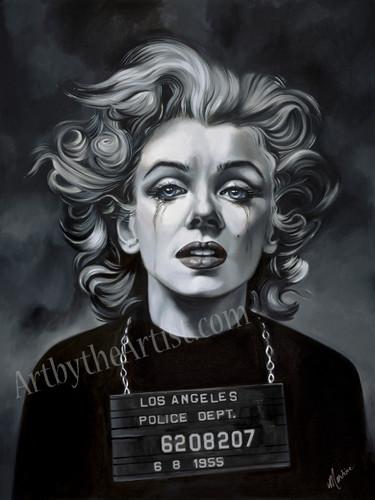 Martine Castoro 'Misdemeanor' Giclee on Canvas (Marilyn Monroe Mugshot)