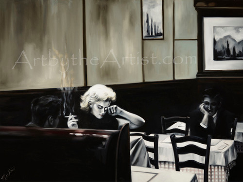 "Martine Castoro ""Costello's"" Giclee on Canvas"