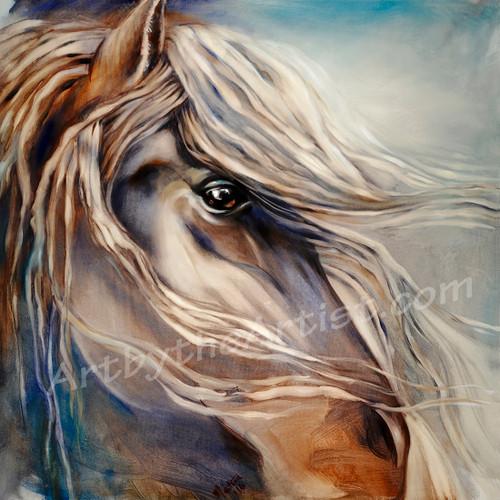 "Martine Castoro ''Untitled"" Giclee on Canvas"