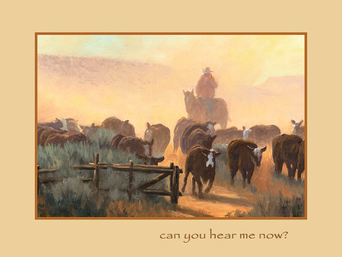 """Fred Choate 12""""x16"""" 'Can You Hear Me Now' Canvas Gicleé Signed & Numbered (Yellow)"""