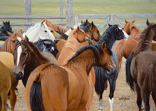 """Dyrk Godby """"At the Gate"""" Giclee on Canvas"""
