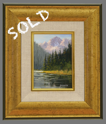 """Fred Choate """"Afternoon in the Sawtooths"""" Original Oil Painting on Canvas"""