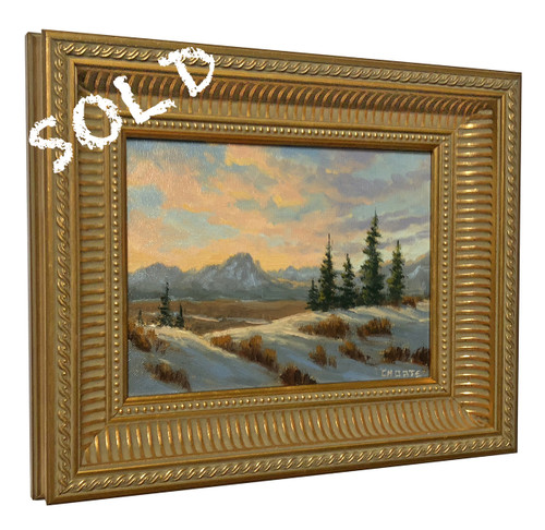 """Fred Choate """"Winter Solitude"""" Original Oil Painting on Canvas"""