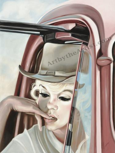 Martine Castoro 'Shades of Pink' Giclee on Canvas