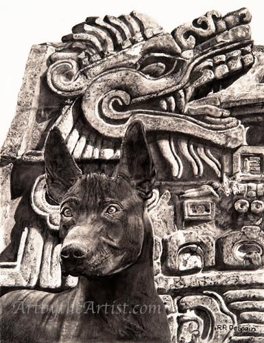 "Richard P. DeSpain ""Spirit Guardian / Dog of the Gods"" Canvas Gicleé Signed & Numbered"