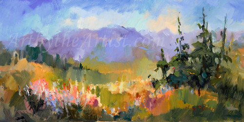 """Mary Butler """"Wildflowers"""" Canvas Gicleé Signed & Numbered"""
