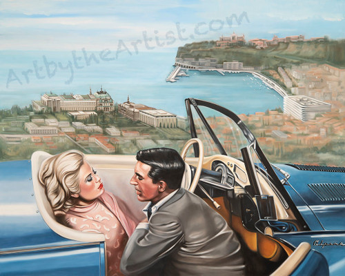 "Martine Castoro ""Picnic With a View"" Giclee on Canvas"