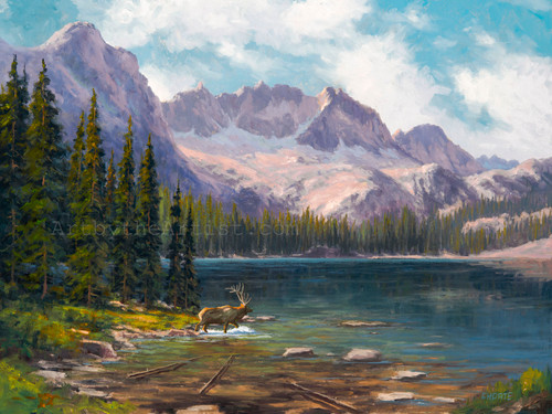 Fred Choate 'Cramer Lake' Canvas Gicleé Signed & Numbered