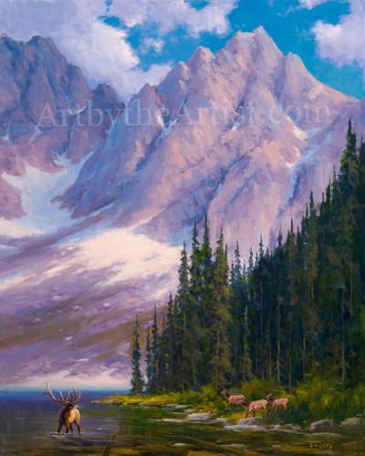 Fred Choate 'Castle Peak' Canvas Gicleé Signed & Numbered