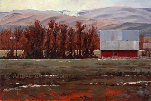 Joal Curtis 'The Barn' Giclee on Canvas