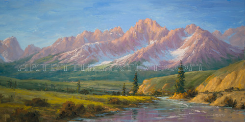 Fred Choate 'Stanley' Giclee on Canvas Limited Edition
