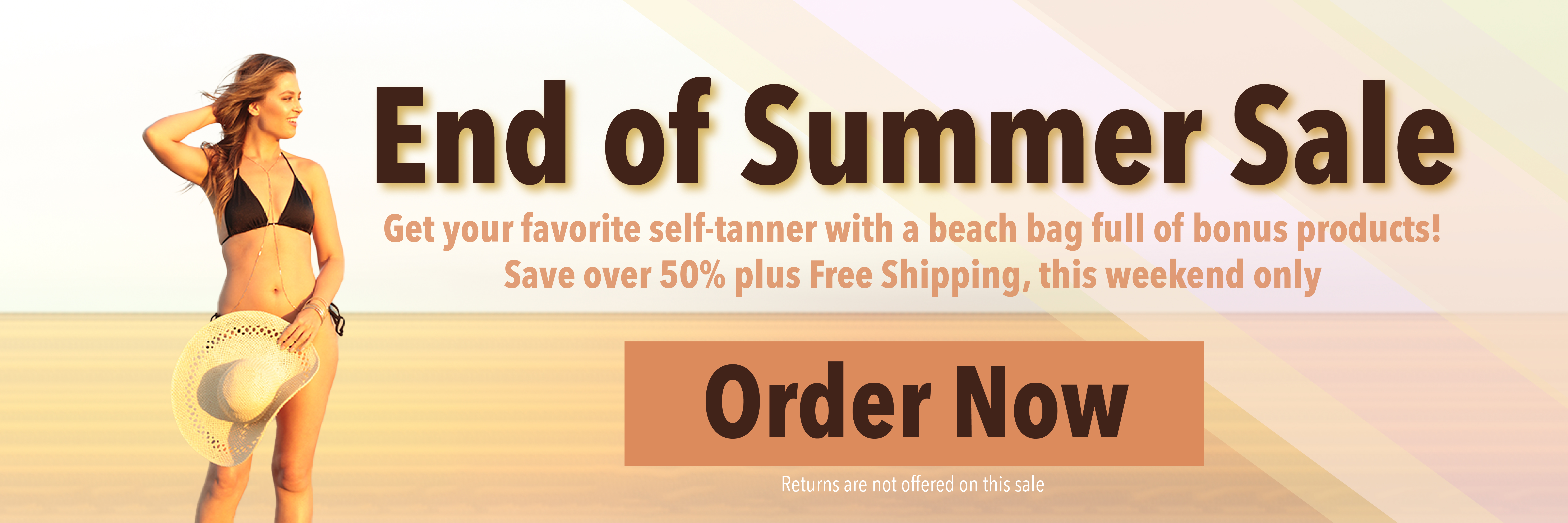 End of summer sale this weekend only