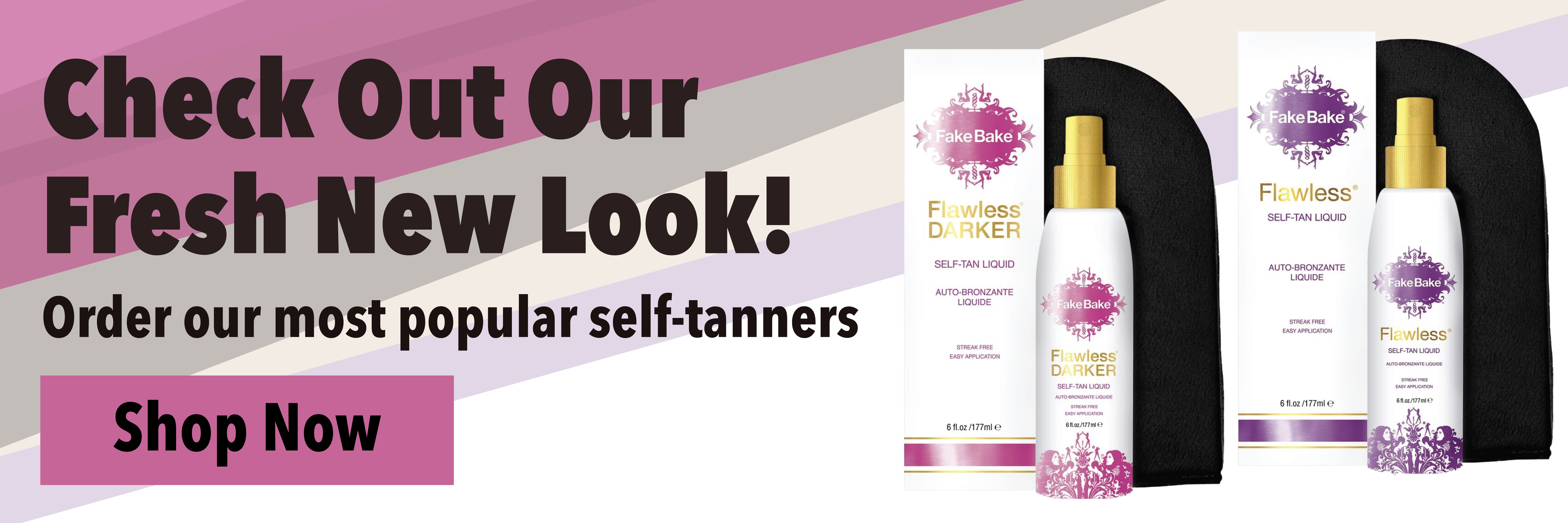 New packaging for Fake Bake Flawless & Flawless Darker