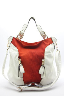 Natasha Hobo Shoulder Tote- White