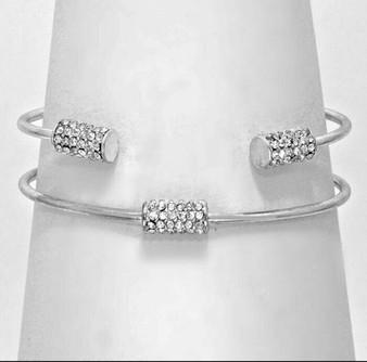 Pave Double Cuff Bracelets