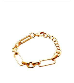 Toggle Chain Link Bracelet-Gold