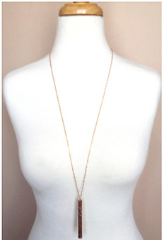 Bar necklace-Rose Gold