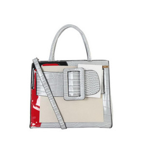 Maxie Buckle Tote- Gray