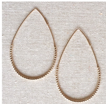 Mia Teardrop Hoop  Earrings- Rose Gold