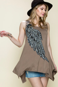 Safe Wings Tunic-Dove