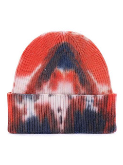 Tie to Dye for Beanie-Orange/Blue