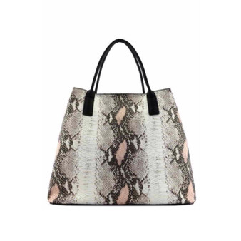 Moxie  Buckle Tote- Gray