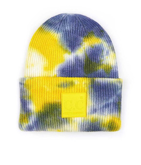 Tie to Dye for Beanie-Yellow/Gray