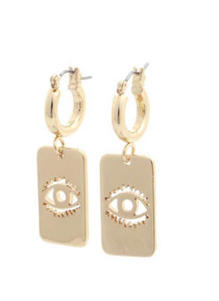 Cali Evil Eye Earrings-Gold