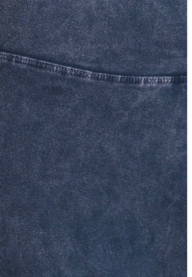 Fold Over Blocked Leggings-Indigo Blue