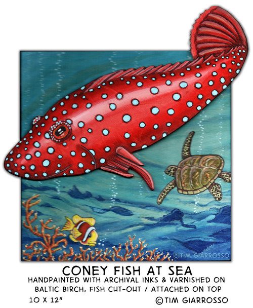 Coney Fish At Sea