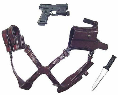 Resident Evil 4 Leon Shoulder Holster W Pistol Knife Toy