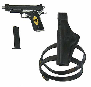 Expendables 2 Barney Ross Pistol W Left Hand Holster Toy Anxiety