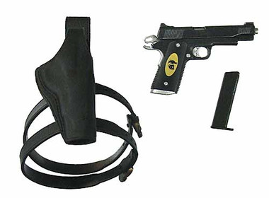Expendables 2 Barney Ross Pistol W Right Hand Holster Toy