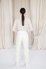 White: Scanlan Leather High Waist Trouser