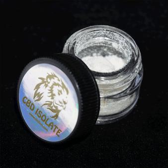CBD Isolate Jar open
